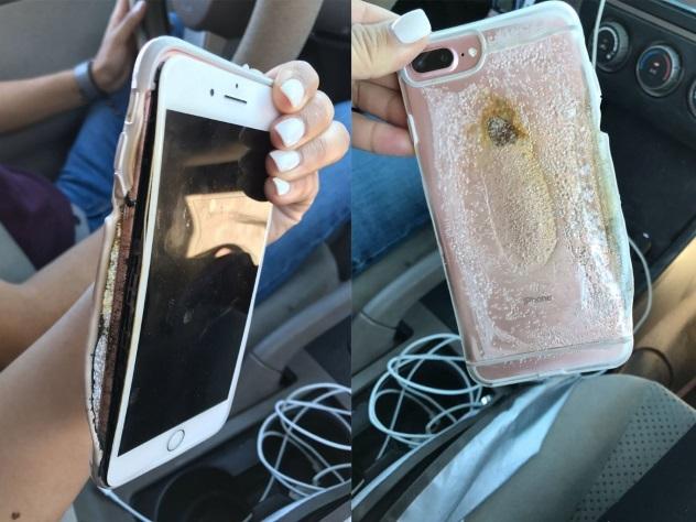 Вweb-сети интернет появилось ВИДЕО самовозгорания iPhone 7 Plus; Apple начала расследование