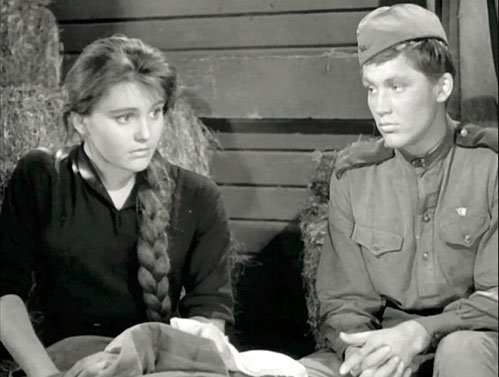 Жанна Прохоренко и Владимир ИВАШОВ (кадр из фильма «Баллада о солдате»)