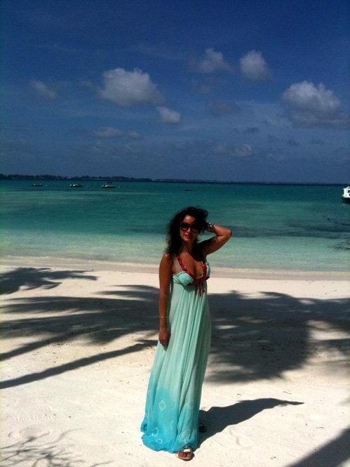 Тина КАНДЕЛАКИ на Мальдивах