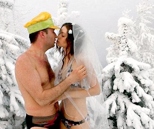 Для Сергея КАУНОВА и Ирины КУЗЬМЕНКО их свадьба превратилась в зимнюю сказку