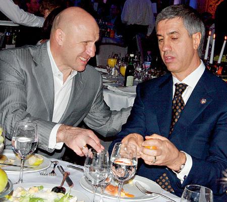 Президент Федерации спортивной борьбы Михаил МАМИАШВИЛИ и алюминиевый король Анатолий БЫКОВ