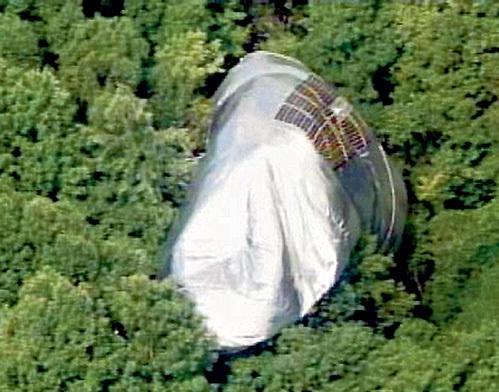 Супердирижабль рухнул прямо на вековые сосны