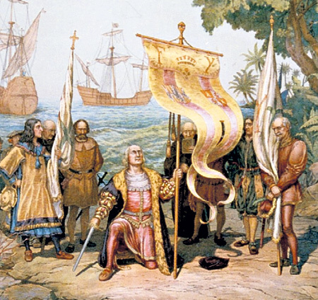 Картина «Открытие Америки Колумбом»