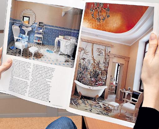 В голубой ванной комнате моется ГАЛКИН, а роскошная ванная с авторским панно и золотым потолком принадлежит Алле Борисовне