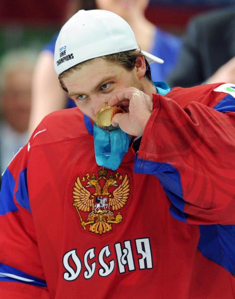 Вратарь сборной России Семён Варламов. Фото: «РИА Новости».