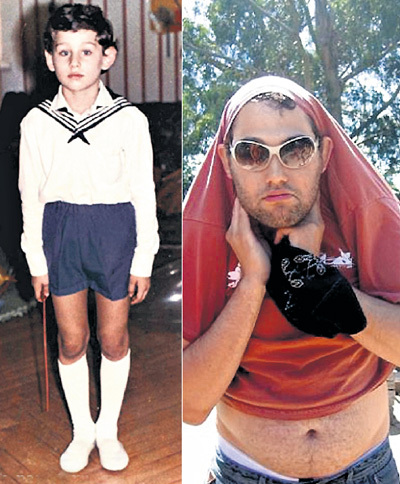 Из стройного застенчивого мальчишки СЛЕПАКОВ превратился в упитанного хохмача-бородача (фото слева - www.sb5gorsk.narod.ru, фото справа - vk.com)
