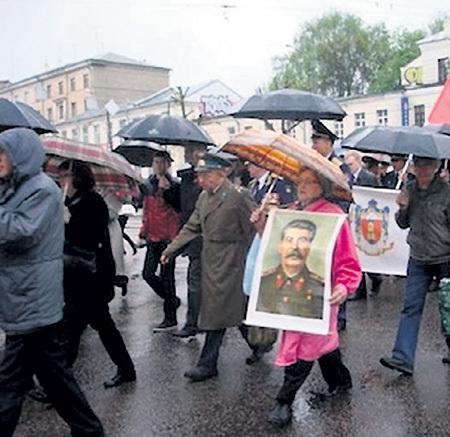 Демонстрация по случаю 9 Мая в Твери