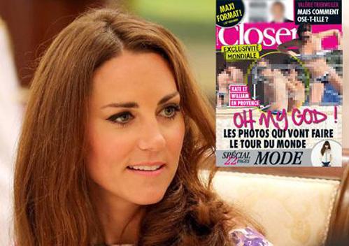 Французский журнал Closer опубликовал эксклюзивные снимки Кейт топлесс