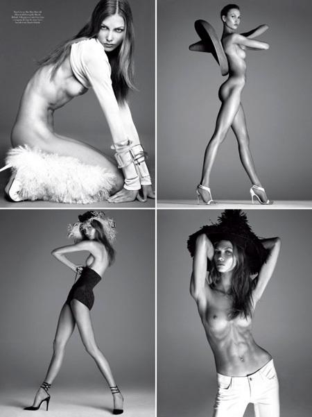 В итальянском Vogue Карли выглядела пугающе худой