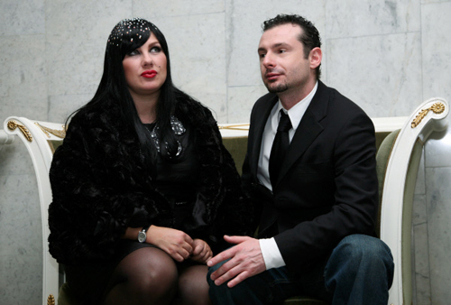 Ева ПОЛЬНА и Юрий УСАЧЕВ (фото РИА