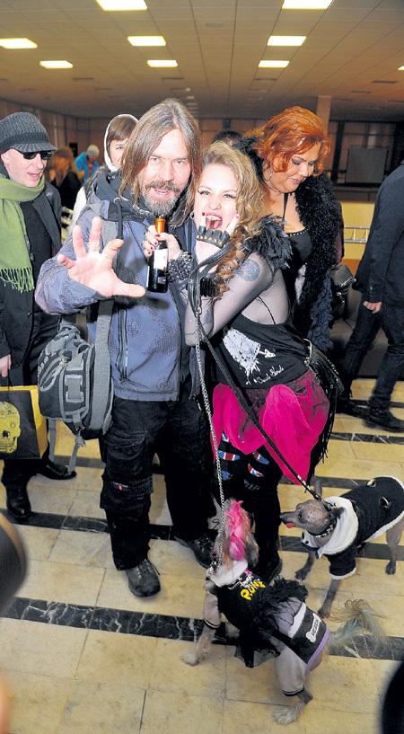 Лера с рокером Пауком