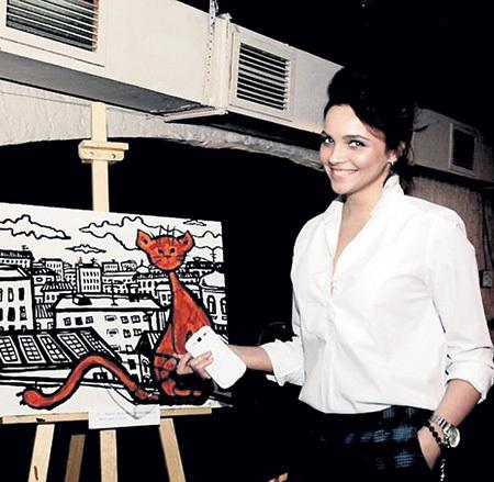 В Москве недавно прошла персональная выставка Наташи «Кошкин дом». Фото: Vk.com