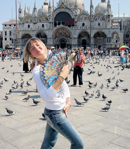 …и в Венеции чувствует себя, как дома