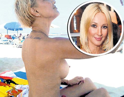 Телеведущая Лера КУДРЯВЦЕВА напрасно ловит на грудь поток ультрафиолета