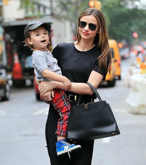 Миранда КЕРР с сыном Флинном