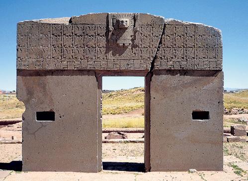 В орнаментах на колоннах Ворот Солнца в боливийском городе Тиауанако многие усматривают изображения слонов, которые водились в Южной Америке 12 тыс. лет назад - задолго до постройки этого сооружения