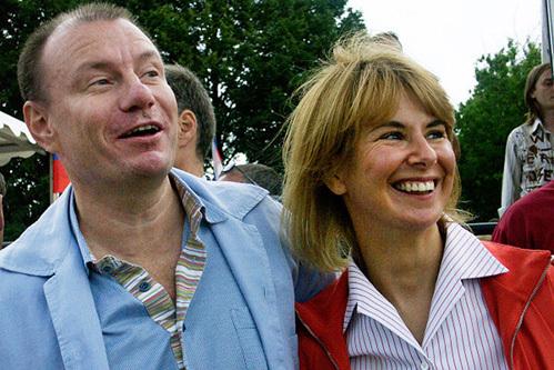 Владимир Потанин с супругой Натальей в 2004 году. Фото: РИА «Новости»