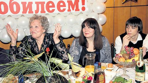 Дочь Татьяна и внук Федя были всегда рядом с народной артисткой
