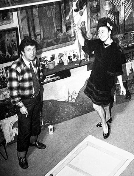 Молоденькая Галина БРЕЖНЕВА часто бывала в мастерской ГЛАЗУНОВА (1971)