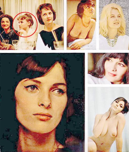 Страничка из мужского журнала 1964 года: МАТВЕЕВА (в круге) рядом с сёстрами РЯБИНКИНЫМИ