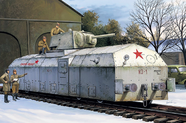 Бронедрезина «Красная Звезда» обходилась без паровоза. Фото с сайта elgrancapitan.org