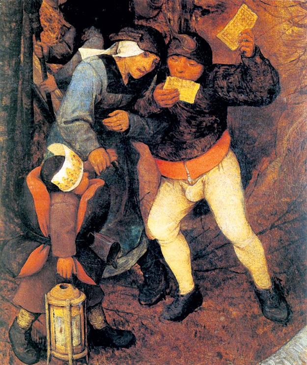 У простого люда всё было натурально - без бантиков и каменьев (фрагмент картины Питера БРЕЙГЕЛЯ-старшего «Сумрачный день», 1565 год)