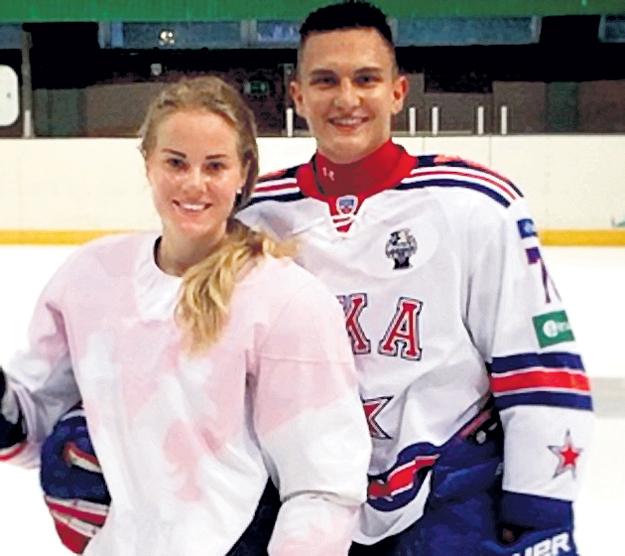 Андрея и Ангелину объединил хоккей. Фото: Instagram.com