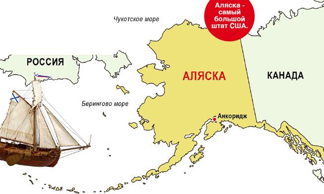 Матросы и офицеры бота «Св. Гавриил» стали первыми русскими, сошедшими на землю Аляски