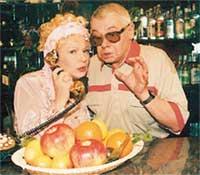 НА СЪЕМКАХ ТЕЛЕСЕРИАЛА &#034КЛУБНИЧКА&#034: Демьяненко с Галиной Польских