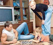 С ЖЕНОЙ СВЕТОЙ И СЫНОМ ДИМОЙ: актерская семья должна быть спортивной