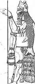 АТЛАНТ: изображен на стене тибетского храма