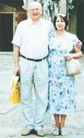 СУПРУГИ ТУЕВЫ: Валерий и Татьяна на отдыхе в Дании (2002 г.)