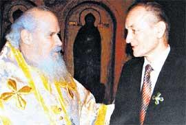 С ПАТРИАРХОМ: вручение ордена Преподобного Сергия Радонежского