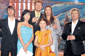 В ОКРУЖЕНИИ КОЛЛЕГ: среди знаменитостей Пестунова чувствует себя своей