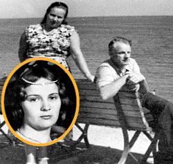 ЖАКОВ С ЖЕНОЙ НА ОТДЫХЕ: слева - Татьяна Новожилова в молодости