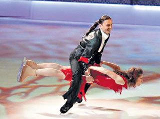 В телешоу «Ледниковый период» с Анастасией МАКЕЕВОЙ