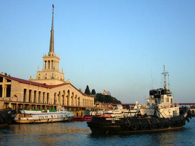 Порт города Сочи в настоящее время