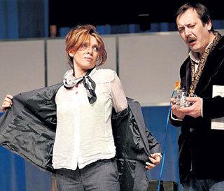 С Ольгой ДРОЗДОВОЙ на сцене «Современника» (фото www.sovremennik.ru)