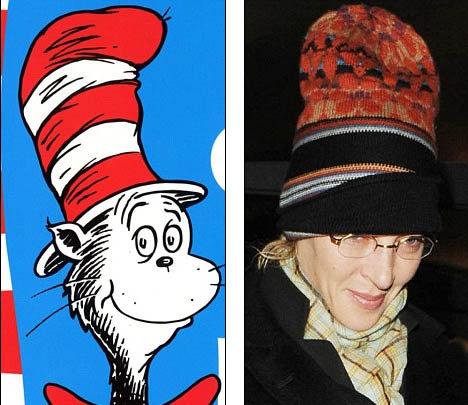 Головной убор актрисы напомнил британцам героя популярного детского мультика Кота в Шляпе. Фото: Daily Mail