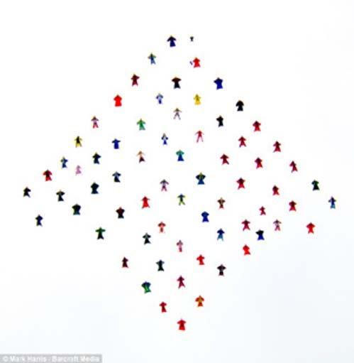 Разноцветный ромб зрители приняли за НЛО
