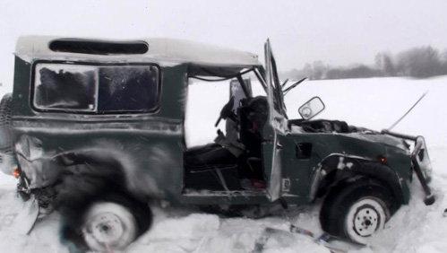 Машина певицы разбита вдребезги
