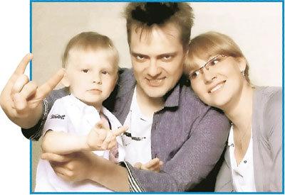 Шоумен с женой Татьяной и сыном Димой