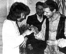 На бракосочетание Лены и Валеры пришёл коллега по «Современнику» Игорь КВАША (1985 г.)