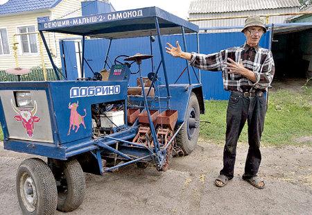 Уникальный агрегат для уборки сорго 66-летний Семен ЛАЗАРЕВ из села Добрино сделал своими руками