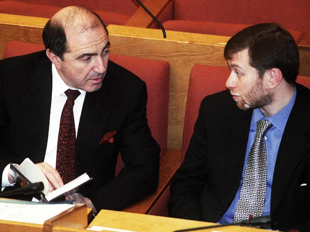 Борис Безеовский вместе с Романом Абрамовичем на заседании Госдумы