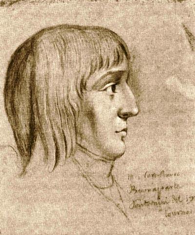 Наполеон в 16 лет. Рисунок неизв. автора