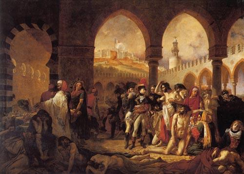 Картина Гро «Наполеон навещает больных чумой в Яффе»