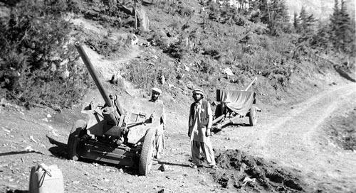 Моджахеды с двумя захваченными артиллерийскими орудиями в 1984 году. wikipedia