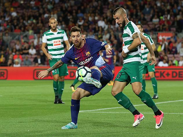 4  гола Месси позволили «Барселоне» разгромить «Эйбар» вчемпионате Испании