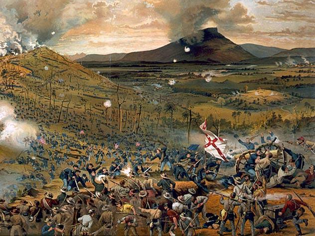 Штурм Миссионерского холма. Одно из сражений Турчанинова стало сюжетом для открытки